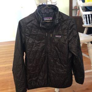 Patagonia Women's Nano pullover half zip. Black XS